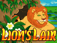 Click to play Lions Lair Real Series Bonus Slot