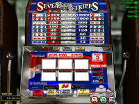Click to play Sevens & Stripes Slot